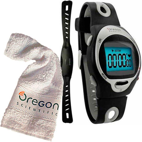 Monitor Cardíaco OREGON HR102N + Clip p/ Bike + Toalha  - Loja Prime