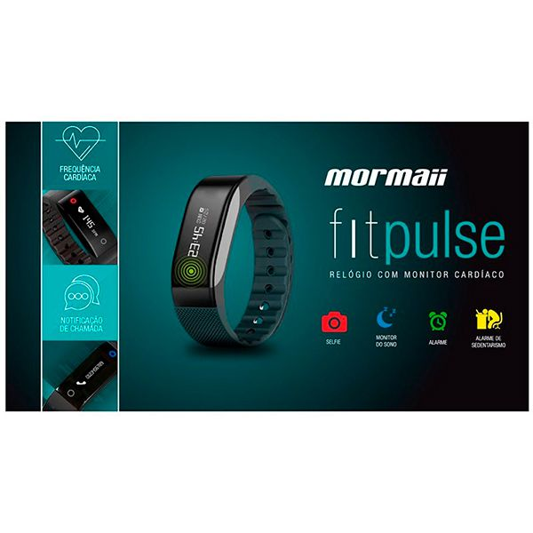 Pulseira Mormaii FitPulse Relógio Monitor Cardíaco MOSW007/8P  - Treinit