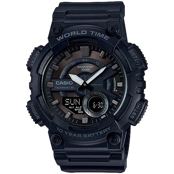 Relógio Casio AEQ-110W-1BVDF Cronômetro Alarme Hora Mundi  - TREINIT