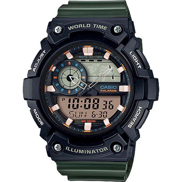 Relógio Casio AEQ-200W-3AVDF Cronômetro Alarme Hora Mundi  - TREINIT