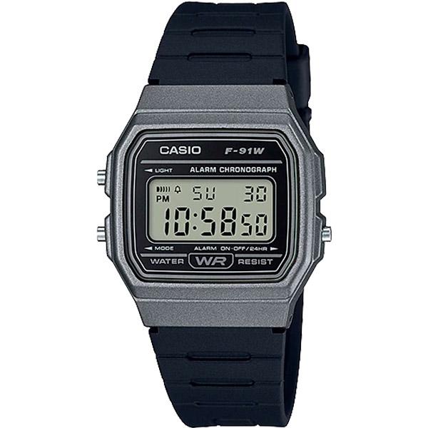 Relógio Casio F-91WM-1BDF Alarme Cronômetro  - TREINIT