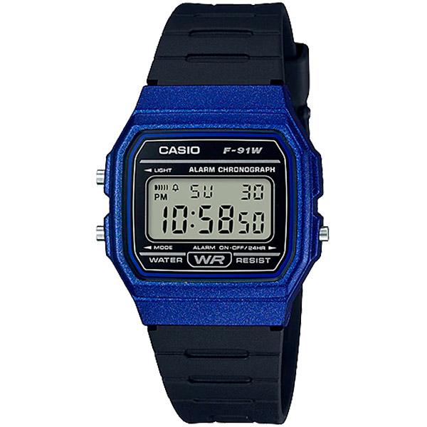 Relógio Casio F-91WM-2ADF Alarme Cronômetro  - TREINIT