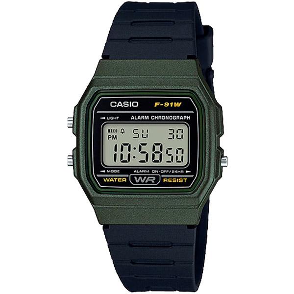 Relógio Casio F-91WM-3ADF Alarme Cronômetro  - TREINIT