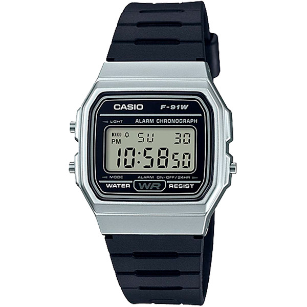Relógio Casio F-91WM-7ADF Alarme Cronômetro  - TREINIT