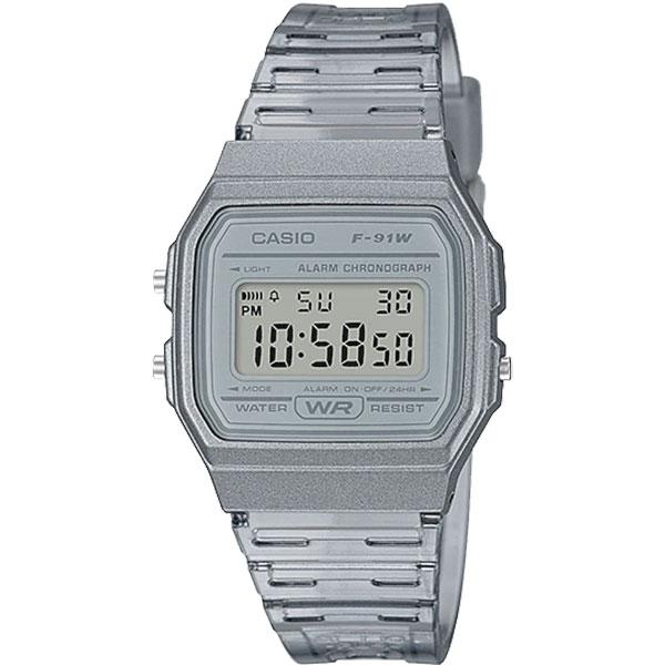 Relógio Casio F-91WS-8DF Alarme Cronômetro  - TREINIT
