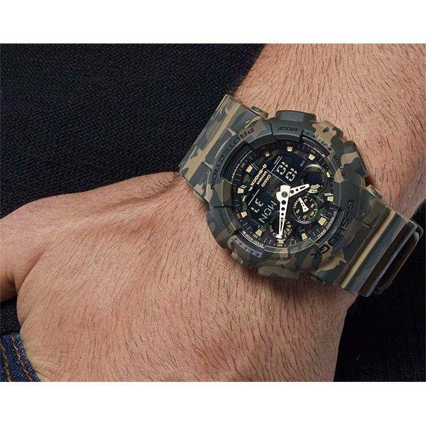 Relógio Casio G-Shock Camuflado GA-100CM-5ADR Resistente a choques  - TREINIT