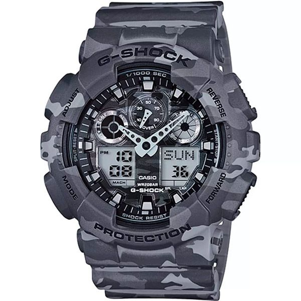 Relógio Casio G-Shock Camuflado GA-100CM-8ADR Resistente a choques  - TREINIT