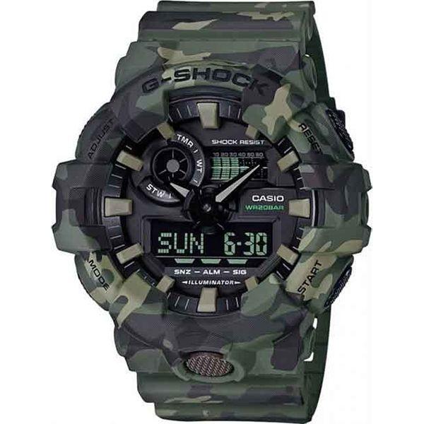 Relógio Casio G-Shock Camuflado GA-700CM-3ADR Resistente a choques  - TREINIT