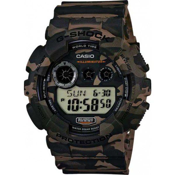 Relógio Casio G-Shock Camuflado GD-120CM-5DR Resistente a choques  - Loja Prime