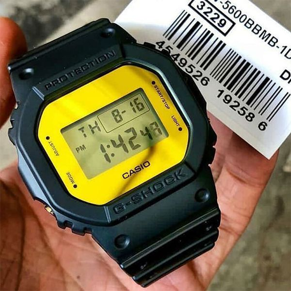 Relógio Casio G-Shock DW-5600BBMB-1DR Resistente a choques  - Treinit