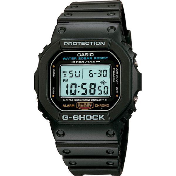 Relógio Casio G-Shock DW-5600E-1VDR Resistente a choques  - TREINIT