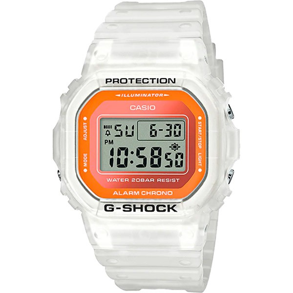 Relógio Casio G-Shock DW-5600LS-7DR Semitransparente  - TREINIT