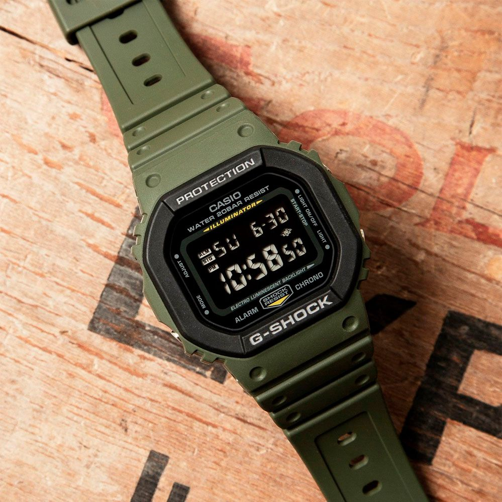 Relógio Casio G-Shock DW-5610SU-3DR Resistente a choques  - TREINIT
