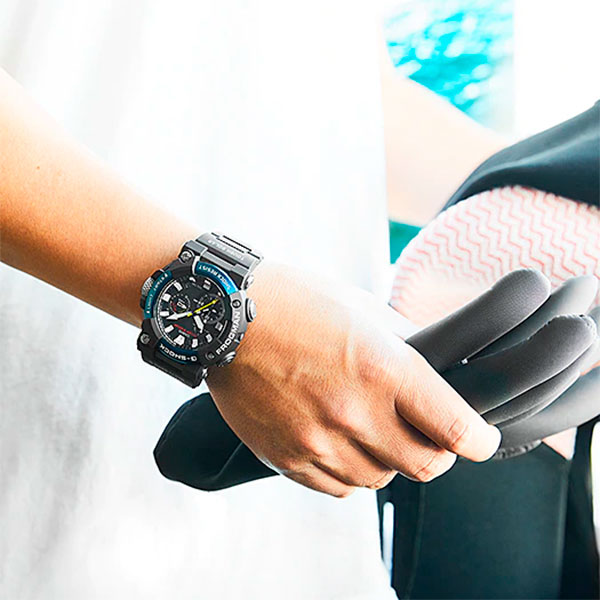 Relógio Casio G-Shock Frogman GWF-A1000C-1ADR Solar e Bluetooth  - TREINIT