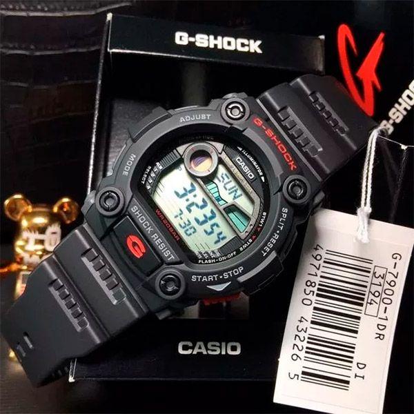 Relógio Casio G-Shock G-Rescue Tábua de Maré G-7900-1DR  - TREINIT