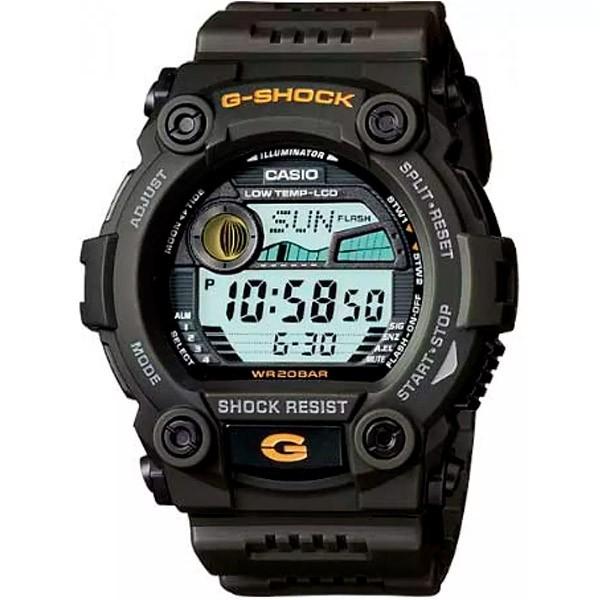 Relógio Casio G-Shock G-Rescue Tábua de Maré G-7900-3DR  - TREINIT