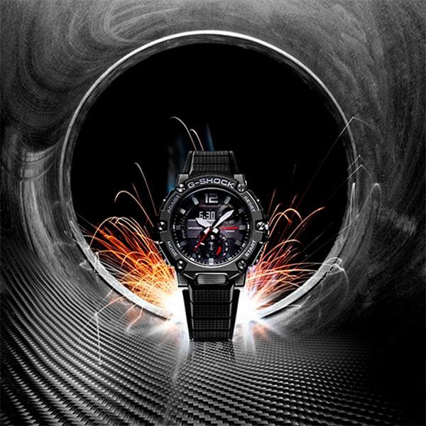 Relógio Casio G-Shock G-Steel GST-B300-1ADR Carbon Core Guard  - TREINIT