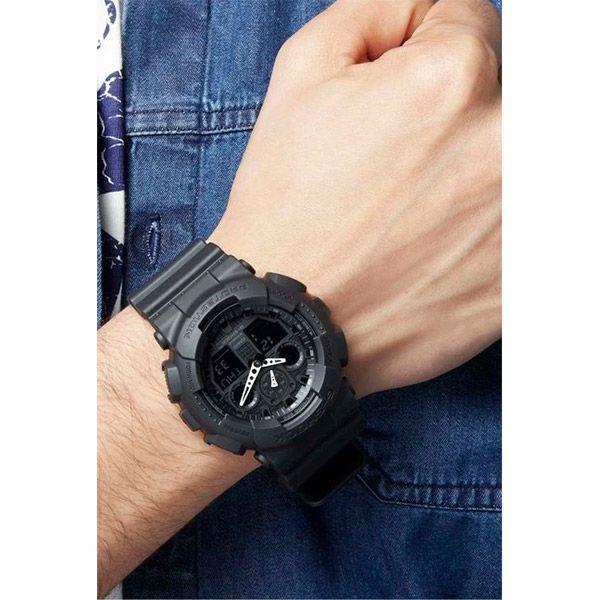 Relógio Casio G-Shock GA-100-1A1DR Resistente a choques  - Treinit