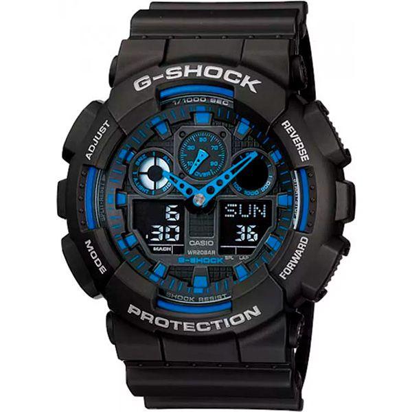 Relógio Casio G-Shock GA-100-1A2DR Resistente a choques  - TREINIT
