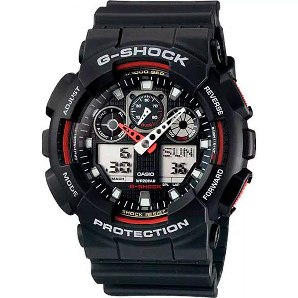 Relógio Casio G-Shock GA-100-1A4DR Resistente a choques  - TREINIT