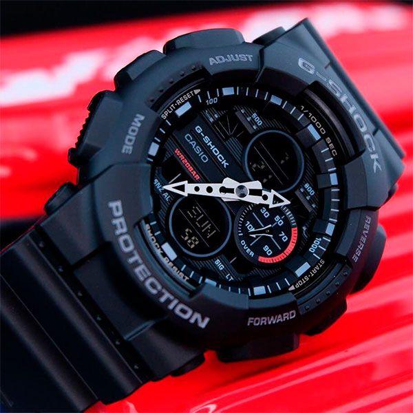 Relógio Casio G-Shock GA-140-1A1DR Resistente a choques  - Loja Prime