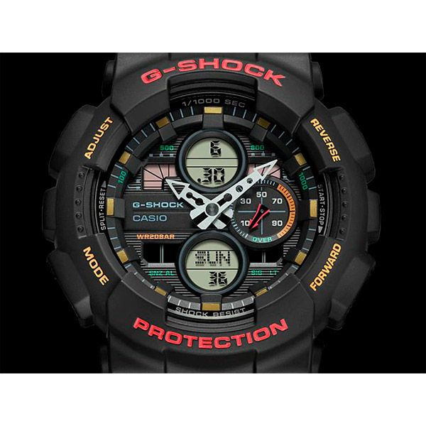Relógio Casio G-Shock GA-140-1A4DR Resistente a choques  - TREINIT