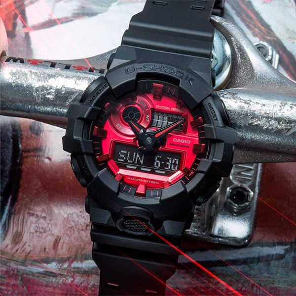 Relógio Casio G-Shock GA-140AR-1ADR Resistente a choques  - Loja Prime