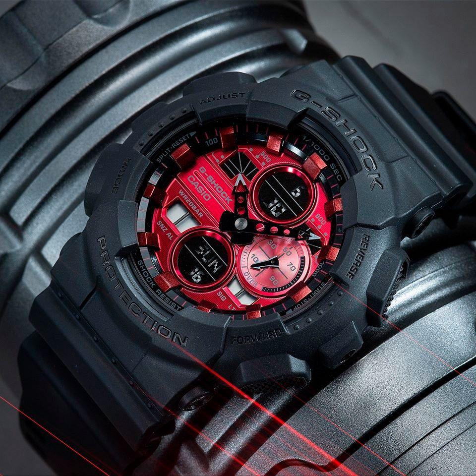Relógio Casio G-Shock GA-140AR-1ADR Resistente a choques  - TREINIT