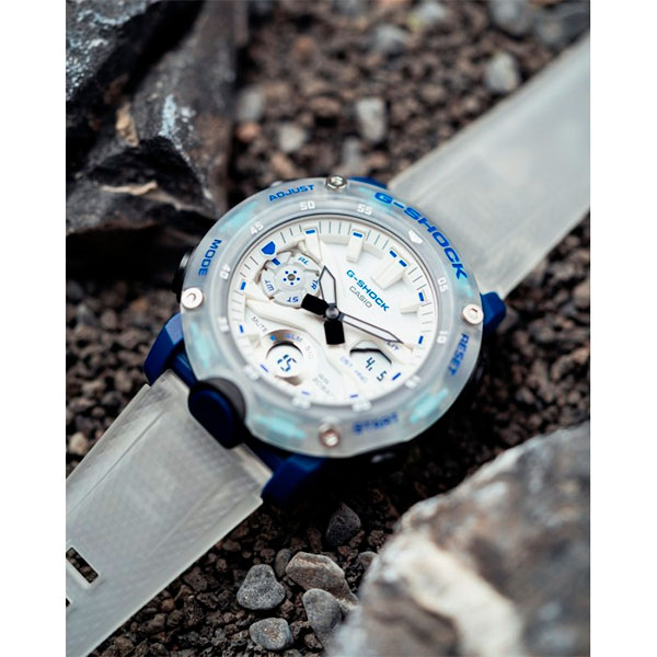 Relógio Casio G-Shock GA-2000HC-7ADR Série Hidden Coast Carbon Core Guard  - TREINIT