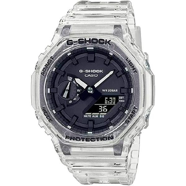 Relógio Casio G-Shock GA-2100SKE-7ADR Série Transparent Pack Carbon Core Guard  - TREINIT