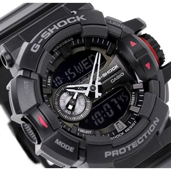 Relógio Casio G-Shock GA-400-1BDR Rotary Switch Resistente a choques  - Treinit