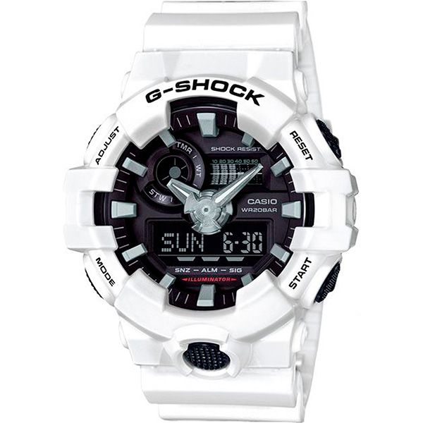 Relógio Casio G-Shock GA-700-7ADR Resistente a choques  - Treinit