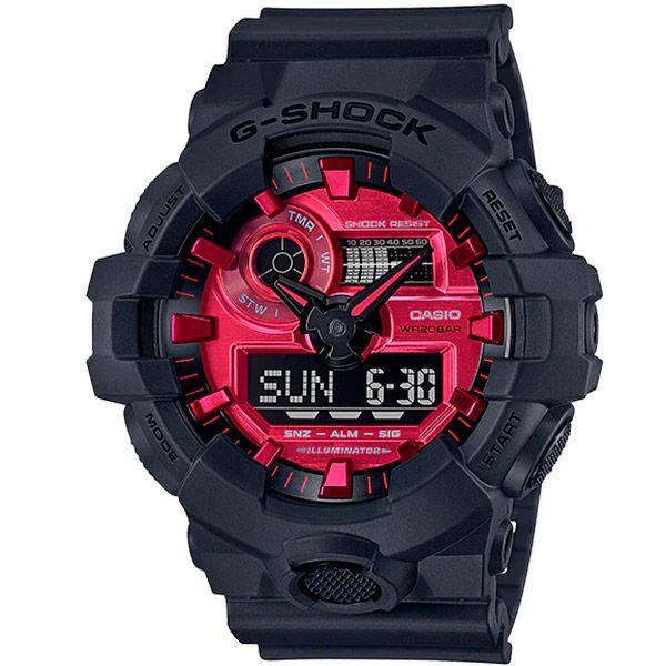 Relógio Casio G-Shock GA-700AR-1ADR Resistente a choques  - TREINIT