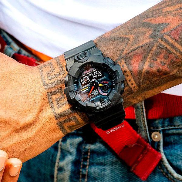 Relógio Casio G-Shock GA-700BMC-1ADR Resistente a choques  - TREINIT