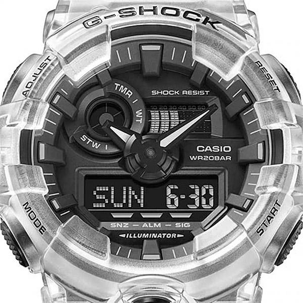 Relógio Casio G-Shock GA-700SKE-7ADR Série Transparent Pack  - TREINIT