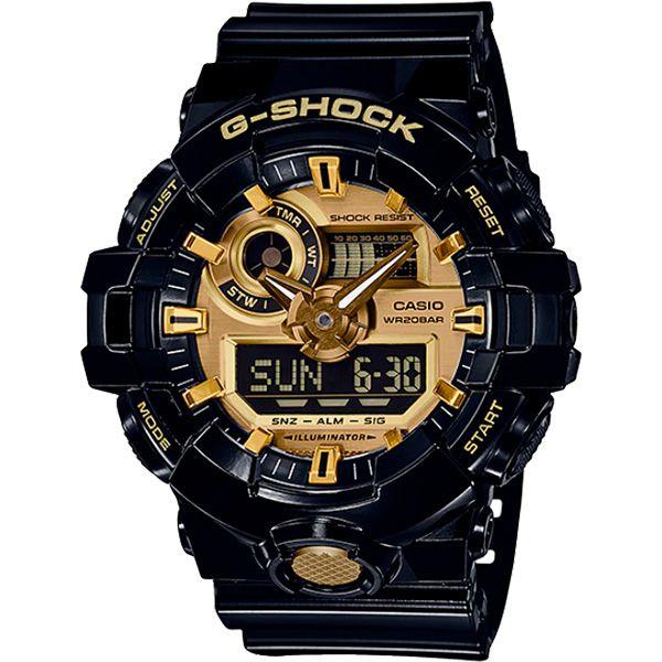 Relógio Casio G-Shock GA-710GB-1ADR Resistente a choques  - TREINIT