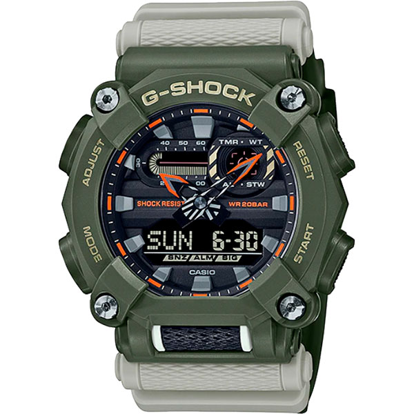 Relógio Casio G-Shock GA-900HC-3ADR Série Hidden Coast  - TREINIT