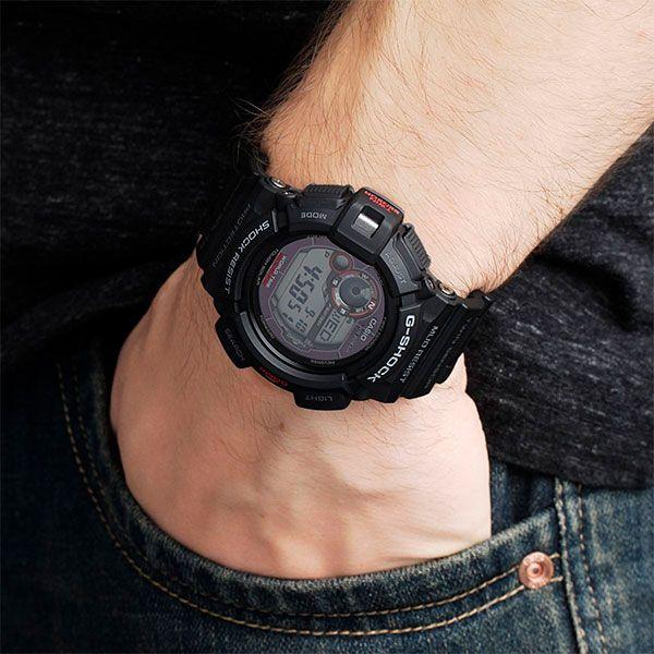 Relógio Casio G-Shock Mudman G-9300-1DR Resistente a choques  - Treinit