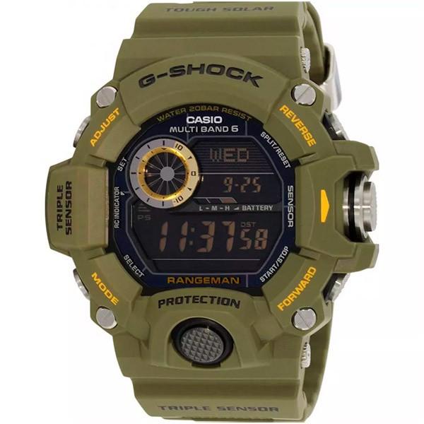 Relógio Casio G-Shock Rangeman GW-9400-3DR Sensor Triplo e Wave Ceptor  - TREINIT