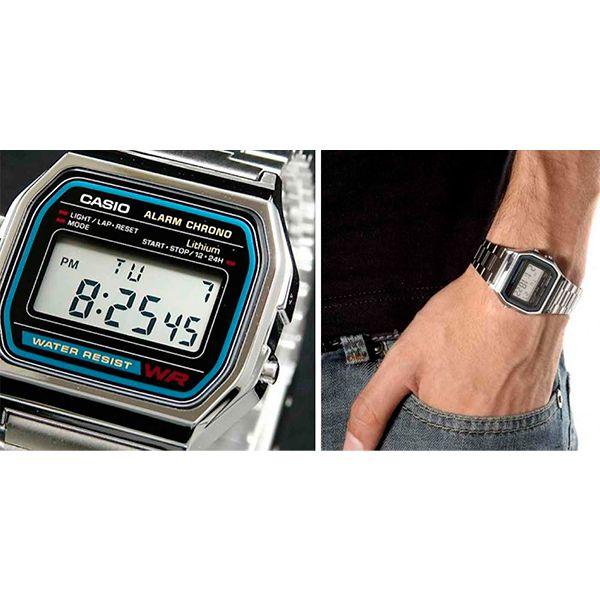 Relógio Casio Retrô Digital Vintage A158WA-1DF Alarme Cronômetro  - Loja Prime