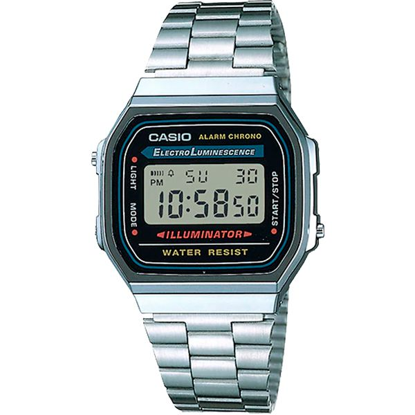 Relógio Casio Retrô Digital Vintage A168WA-1WDF Alarme Cronômetro  - Loja Prime