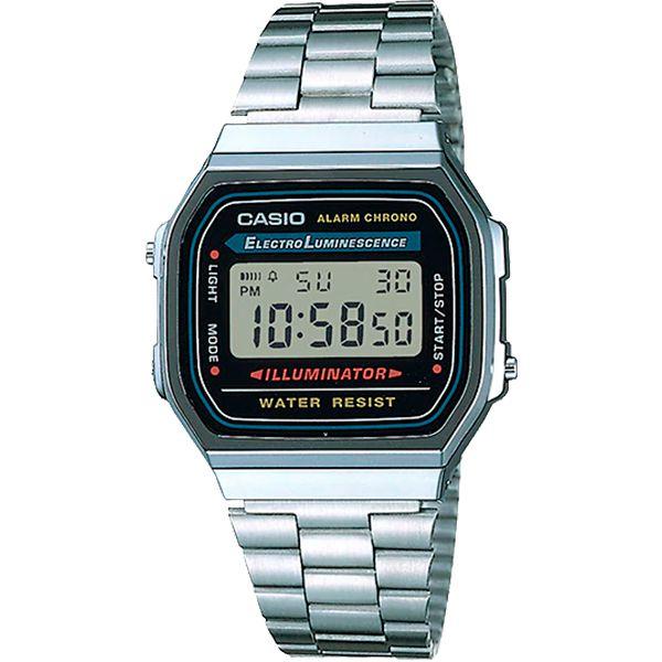 Relógio Casio Retrô Digital Vintage A168WA-1WDF Alarme Cronômetro  - TREINIT