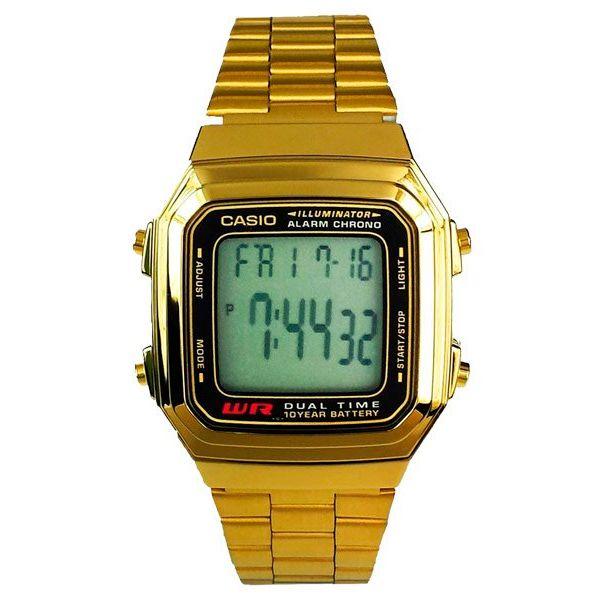 bcdccb4085d Relógio Casio Retrô Digital Vintage A178WGA-1ADF Alarme Cronômetro - Loja  Prime