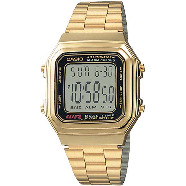 Relógio Casio Retrô Digital Vintage A178WGA-1ADF Alarme Cronômetro  - TREINIT