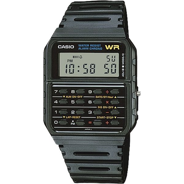 Relógio Casio Vintage Calculadora CA-53W-1Z Back to the Future  - Loja Prime