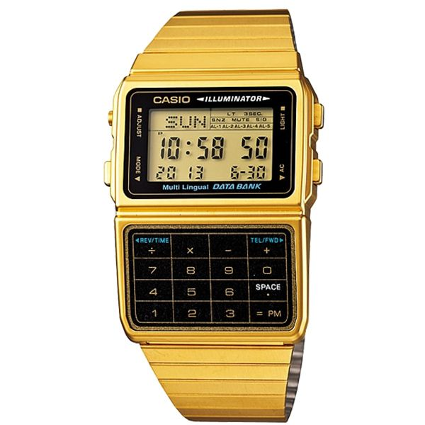 Relógio Casio Vintage Data Bank Calculadora DBC-611G-1DF  - Treinit