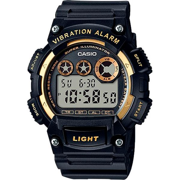 Relógio Casio  W-735H-1A2VDF Alarme Vibratório  - TREINIT