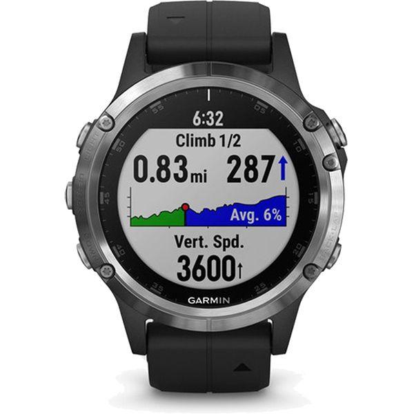 Relógio com GPS Garmin Fênix 5 Plus Preto/Prata - Smartwatch Multiesportivo com Música  - Loja Prime