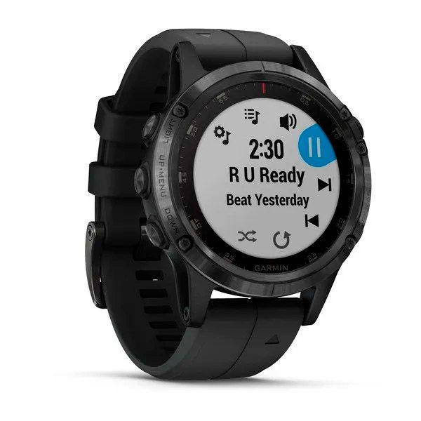 Relógio com GPS Garmin Fênix 5 Plus Preto Safira - Smartwatch Multiesportivo com Música  - Loja Prime