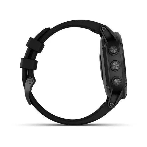 Relógio com GPS Garmin Fênix 5 Plus Preto Safira - Smartwatch Multiesportivo com Música  - TREINIT